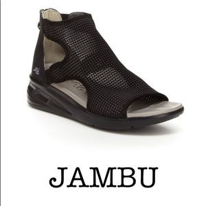 JBU by JAMBU Black Nadine High sport wedge sandals
